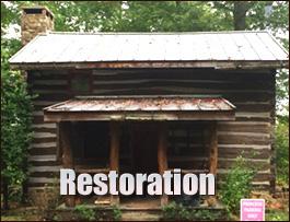 Log Cabin Restoration  Fauquier County, Virginia