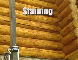 Log Home Staining  Fauquier County, Virginia